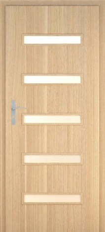 Usa interior Century - Natural oak vertical- model 7